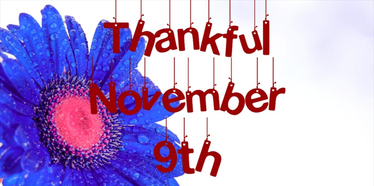 Thankful: November 9th